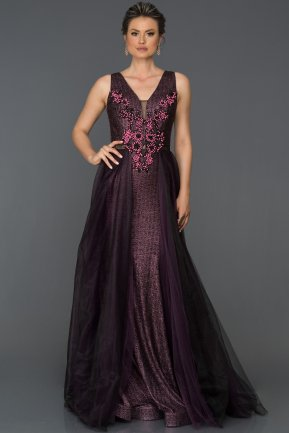 Long Purple Engagement Dress ABU022
