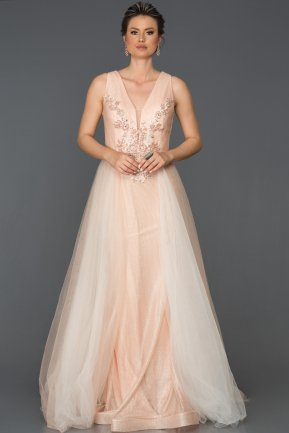 Long Powder Color Engagement Dress AB6102