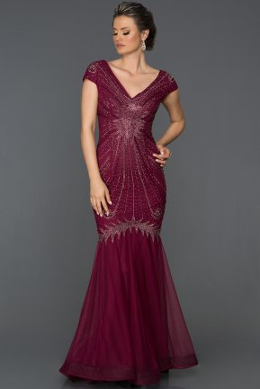 Long Violet Mermaid Prom Dress AB421