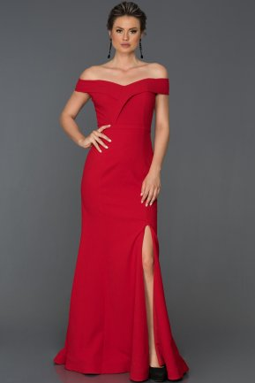 Long Red Prom Gown AB7108