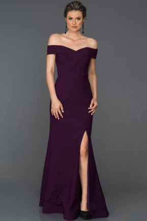 Long Purple Prom Gown AB7108