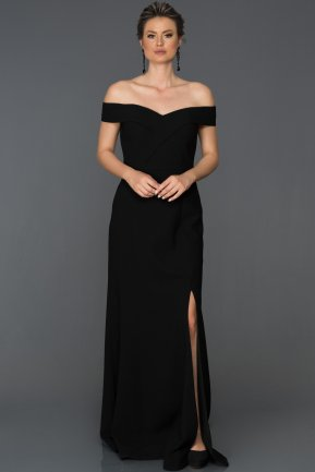 Long Black Prom Gown AB7108