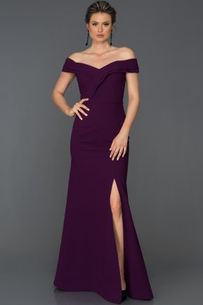 Long Purple Prom Gown AB7115