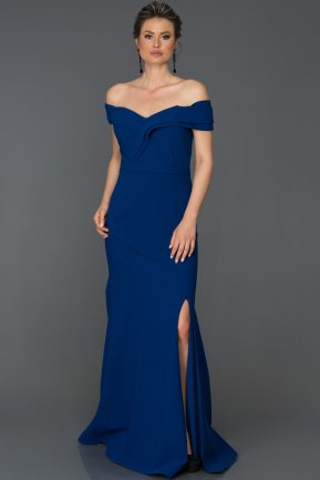 Long Sax Blue Prom Gown AB7115