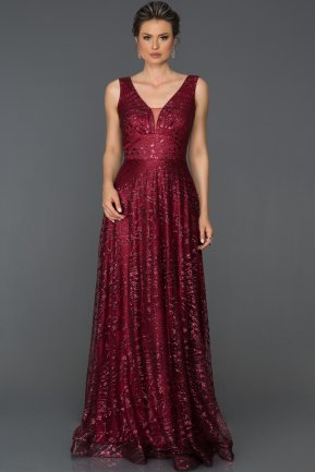 Long Red Engagement Dress ABU110