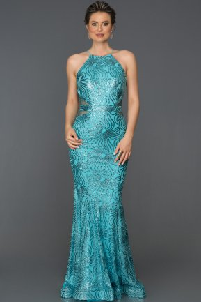 Long Turquoise Mermaid Prom Dress AB7491
