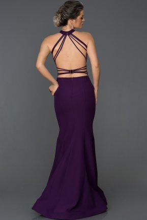Long Purple Mermaid Prom Dress ABU122