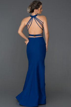 Long Sax Blue Mermaid Prom Dress ABU122