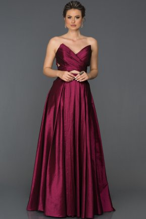 Long Plum Engagement Dress ABU060