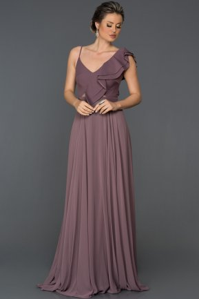 Long Lavander Engagement Dress ABU099