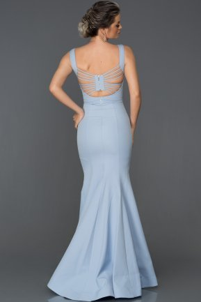 Long Blue Mermaid Prom Dress ABU178