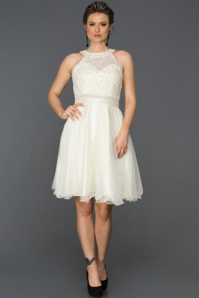 Short White Invitation Dress AB8041