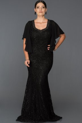 Long Black Oversized Mermaid Evening Dress ABU1010