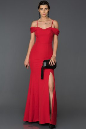 Long Red Mermaid Evening Dress AB1009