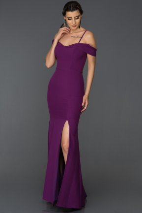 Long Purple Mermaid Evening Dress AB1009