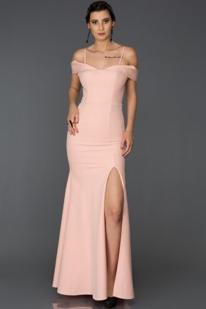Long Powder Color Mermaid Evening Dress AB1009