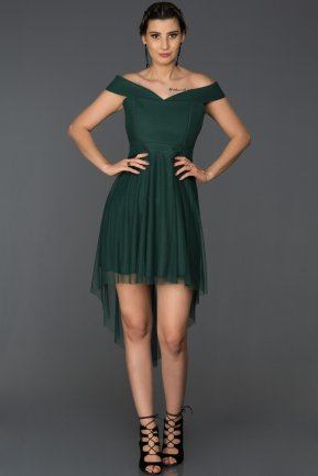 Short Emerald Green Prom Gown AB3451