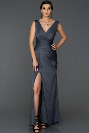 Long İndigo Prom Gown AB4427