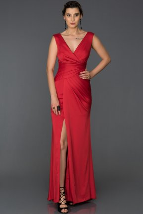 Long Red Prom Gown AB4427