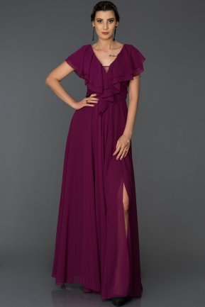 Long Plum Engagement Dress AB4519