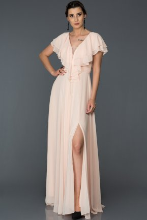 Long Salmon Engagement Dress AB7558