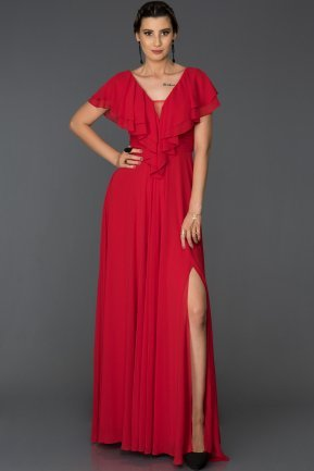 Long Red Engagement Dress AB4519