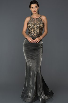 Long Smoked Color Mermaid Prom Dress AB4620