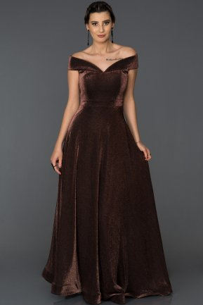 Long Copper Engagement Dress AB5334