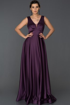 Long Purple Engagement Dress ABU305