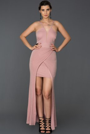 Front Short Back Long Powder Color Prom Gown ABO006