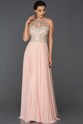 Tail Salmon Engagement Dress ABU051