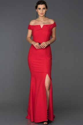 Long Red Mermaid Prom Dress AB7517