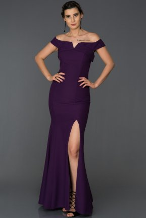 Long Purple Mermaid Prom Dress AB7517