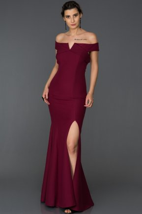Long Plum Mermaid Prom Dress AB7517