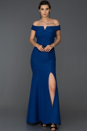Long Sax Blue Mermaid Prom Dress AB7517