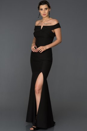 Long Black Mermaid Prom Dress AB7517