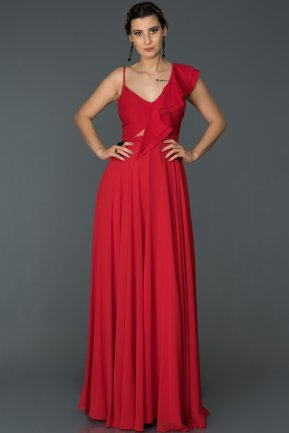 Long Red Engagement Dress ABU476