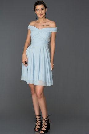 Short Blue Invitation Dress ABK008