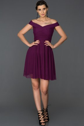Short Purple Invitation Dress AB8063
