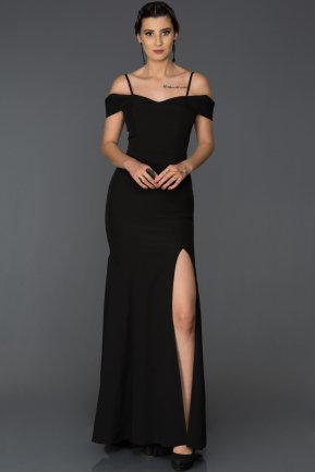 Long Black Mermaid Evening Dress AB1009