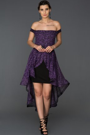 Mini Purple Invitation Dress AB39077