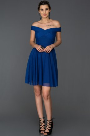 Short Sax Blue Invitation Dress AB8063