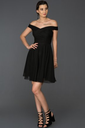 Short Black Invitation Dress AB8063