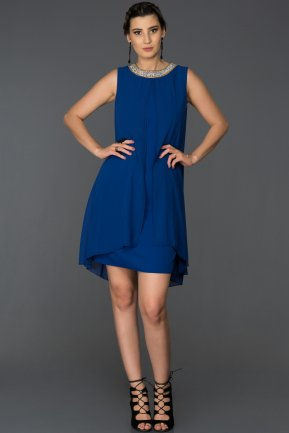 Short Sax Blue Evening Dress ABK031