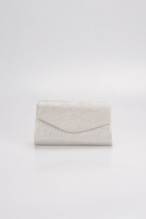 Silver Silvery Evening Bag V497