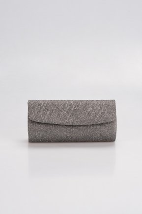 Smoked Color Silvery Evening Bag V475