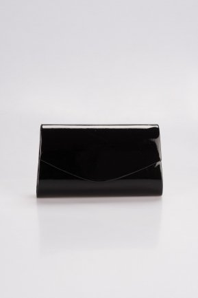 Black Patent Leather Evening Bag V497