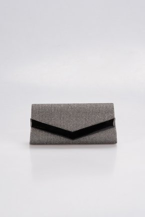 Smoked Color Silvery Evening Bag V438