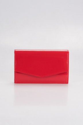 Red Patent Leather Evening Bag V460