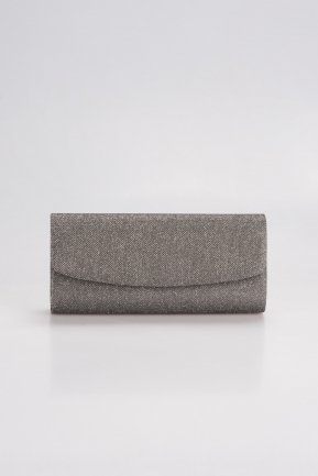 Smoked Color Silvery Evening Bag V477